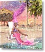 Mermaid By The Sea Metal Print
