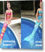 Mermaid Costume For Kids In Canada Metal Print