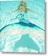 Mermaid Escape 2 Metal Print