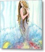 Mermaid In The Mist Metal Print