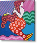Mermaid In The Morning Metal Print