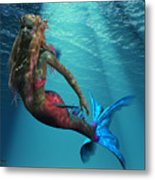 Mermaid Of The Ocean Metal Print