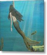 Mermaid Of Weeki Wachee Metal Print