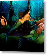 Mermaid Shipwreck  Metal Print by Tray Mead