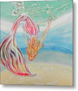 Mermaid Summer Salt Metal Print
