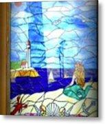 Mermaid Window  Metal Print