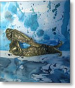 Mermaid With Sea Spray By Nanzy Metal Print