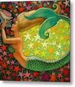 Mermaid's Circle Metal Print