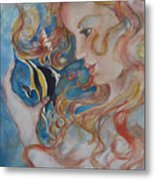 Mermaids Kiss Metal Print