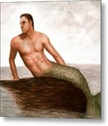 Merman Reef Metal Print