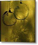 Merry Christmas Greetings In Soft Yellow Metal Print
