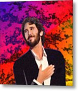 Merry Christmas Josh Groban Metal Print