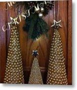 Merry Christmas Trees Metal Print
