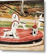 Merry Go Round At The Cape Metal Print