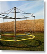 Merry Go Round On The Prairie Metal Print