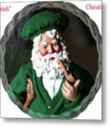 Merry Irish Santa Metal Print