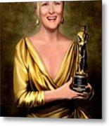 Meryl Streep Winner Metal Print