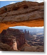 Mesa Arch Morning Glow Metal Print
