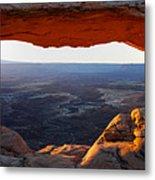 Mesa Arch Panorama Metal Print