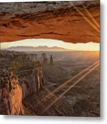 Mesa Arch Sunrise 4 - Canyonlands National Park - Moab Utah Metal Print