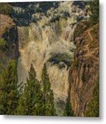 Mesa Falls In Summer Metal Print
