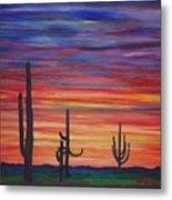 Mesa Sunset Metal Print