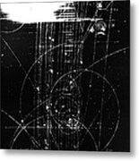 Mesons, Bubble Chamber Event Metal Print