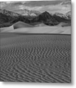 Mesquite Dunes Black And White Metal Print