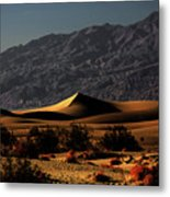 Mesquite Flat Sand Dunes Death Valley - Spectacularly Abstract Metal Print