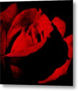 Seduction In Red Metal Print