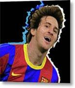 Messi 3498 By Nicholas Nixo Efthimiou Metal Print