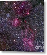 Messier 52 And The Bubble Nebula Metal Print