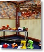 Messy Restaurant Metal Print