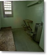 Metal Bed Inside Solitary Confinement Cell Metal Print