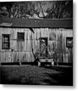 Metal Building On The Grounds At Fort Delaware Near Delaware City Metal Print