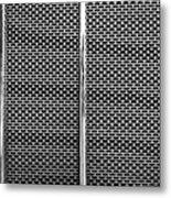 Metal Texture No.18 Bw Metal Print