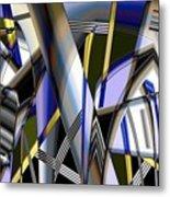 Metallic 3 Metal Print