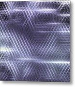 Metallic Cross Pattern  Metal Print