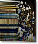 Metallic Drop Metal Print