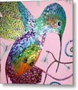 Metallic Hummingbird  Metal Print