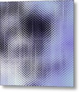 Metallic Weaving Pattern Metal Print