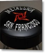 Metallica Bar Stool Metal Print