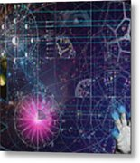 Metaphysical Gravity Metal Print by Kenneth Armand Johnson