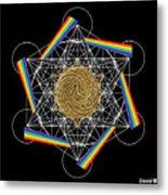Metatron's Rainbow Healing Vortex Metal Print