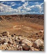 Meteor Crater Metal Print