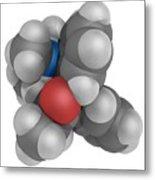 Methadone Molecule Metal Print by Laguna Design