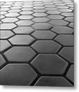 Metro Station In Black And White Metal Print