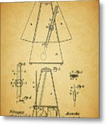 Metronome Patent Metal Print