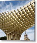 Metropol Parasol At The Plaza Of The Incarnation In Seville Spai Metal Print