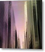 Metropolis Sunset Metal Print